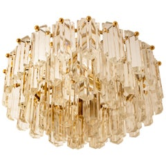 Kalmar Light Fixture/ Flush Mount Gilt Brass and Glass, 1970