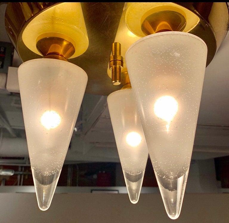 Kalmar Murano Glass 1970s Flush Ceiling Light For Sale 2