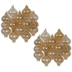 Kalmar Tulipan Glass Sconces, Austrian, circa 1960