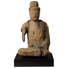 Kamakura Period Japanese Shinzu Sculpture