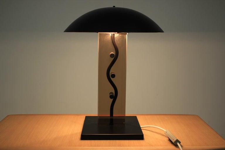 Late 20th Century Kamenický Šenov Design Table Lamp, 1980s For Sale
