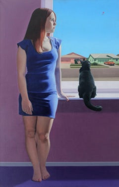 A kite - 21st century, Young art, Figurative painting, Photorealism, A cat