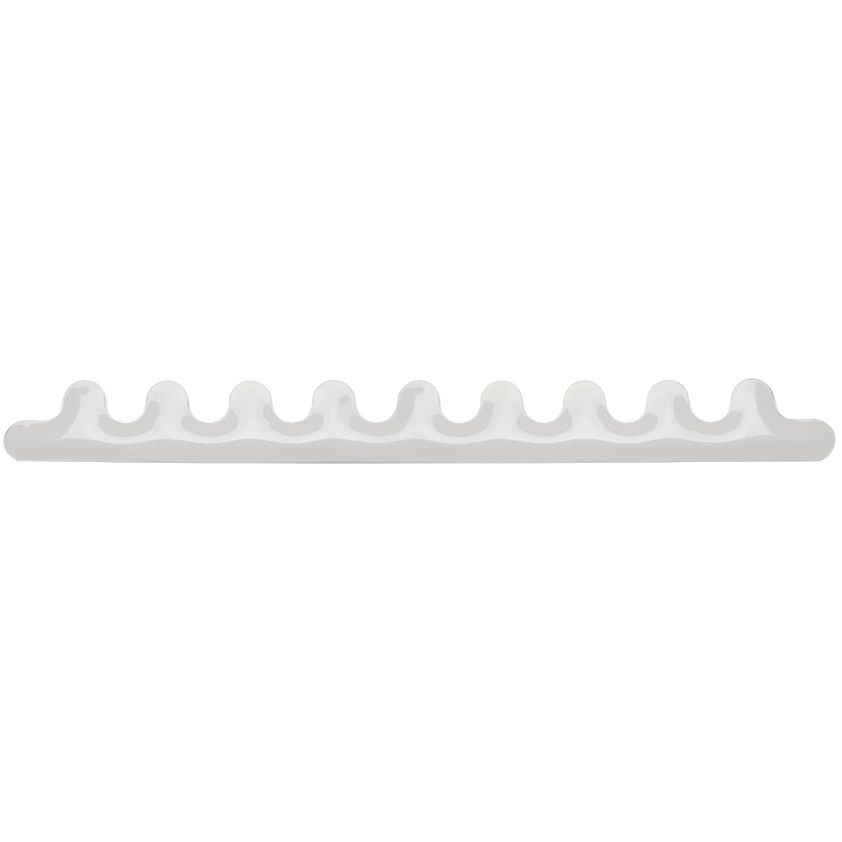 Kamm 9 Polished White Glossy Color Carbon Steel Hanger by Zieta