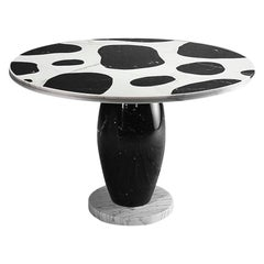 'Kampur' Round Dining Table in Marble, by Michele de Lucchi