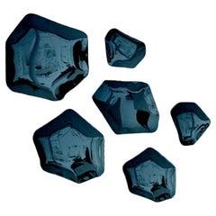 Kamyki 6 Set Polished Cosmic Blue Carbon Steel Hanger by Zieta