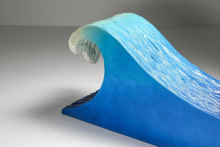 Foam Kanagawa the Great Wave Postmodern Lounge Chair