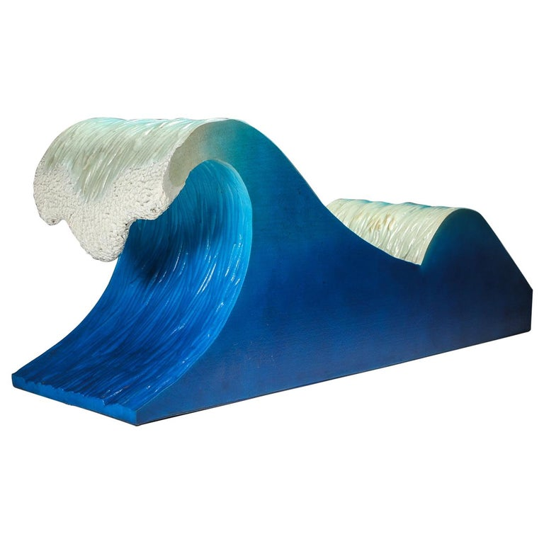 Kanagawa the Great Wave Postmodern Lounge Chair For Sale