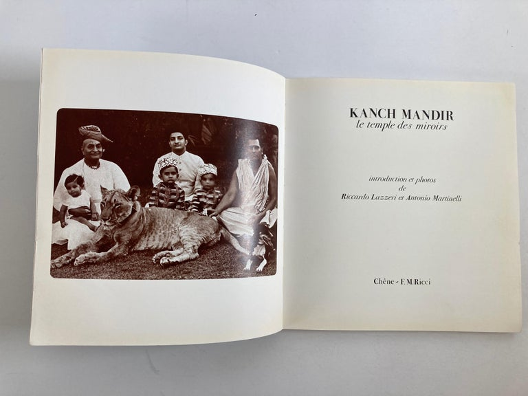 Modern India Kanch Mandir, Le Temple des Miroirs, the Glass Temple French Book For Sale