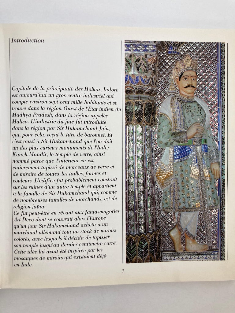 Late 20th Century India Kanch Mandir, Le Temple des Miroirs, the Glass Temple French Book For Sale