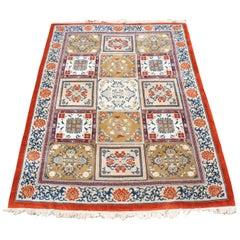 Kandahar 100% Wool Geometric Area Rug Urn Vase Bakharti, India