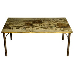 'Kang Tao' Bronze Dining Table by Philip and Kelvin LaVerne, c. 1965, Signed