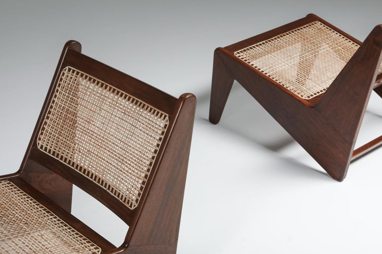 Kangourou Chairs by Jeanneret, Chandigarh, 1955 For Sale 3