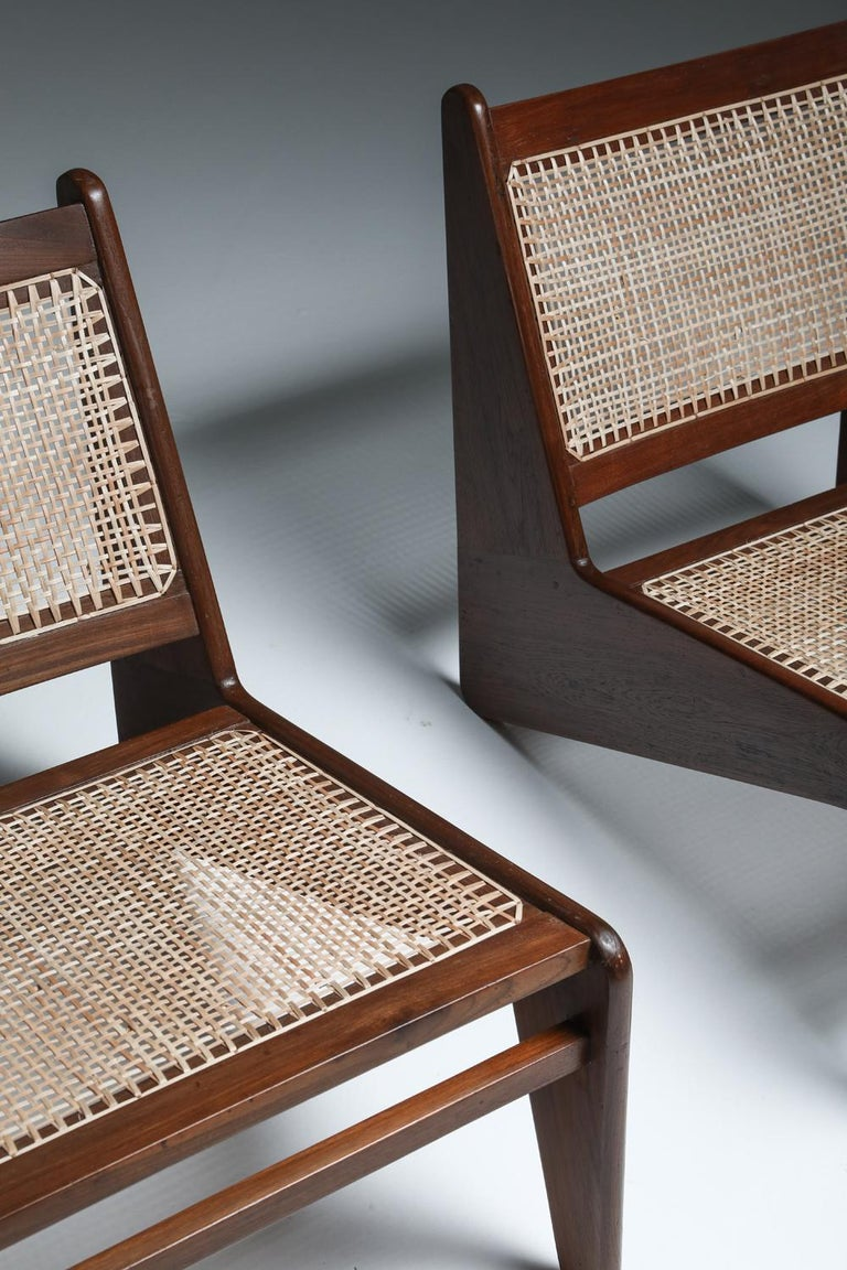 Kangourou Chairs by Jeanneret, Chandigarh, 1955 For Sale 10