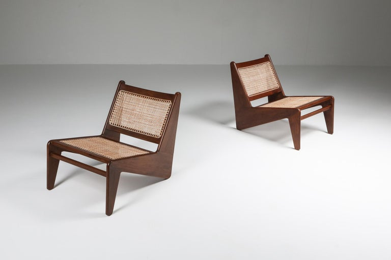 Mid-Century Modern Kangourou Chairs by Jeanneret, Chandigarh, 1955 For Sale