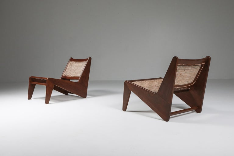 Indian Kangourou Chairs by Jeanneret, Chandigarh, 1955 For Sale