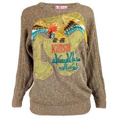 Kansai Yamamoto Vintage Heavily Embroidered Sweater
