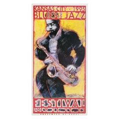 Kansas City Blues and Jazz Festival 1995 U.S. Poster