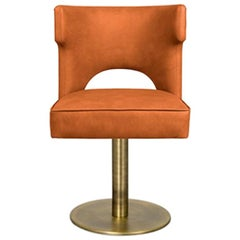 Kansas ii Dining Chair with Swivel and Synthetic Leather