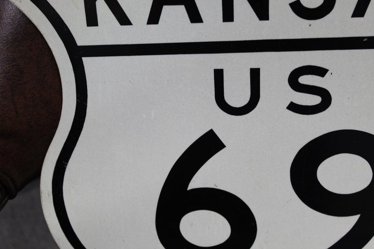 American Kansas US Route 69 Highway Reflective Sign For Sale