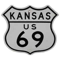 Kansas US Route 69 Highway Reflective Sign