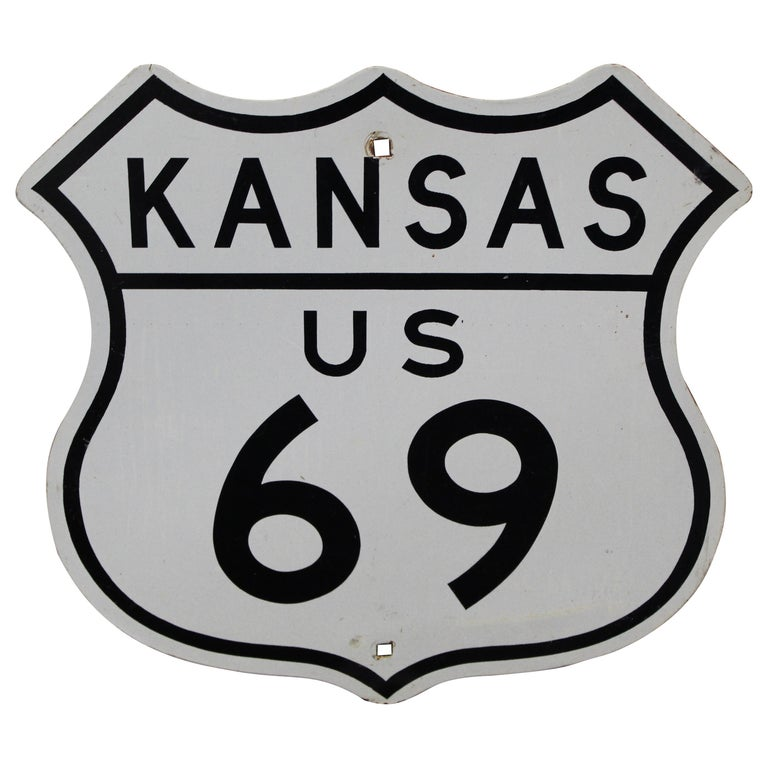 Kansas US Route 69 Highway Reflective Sign For Sale