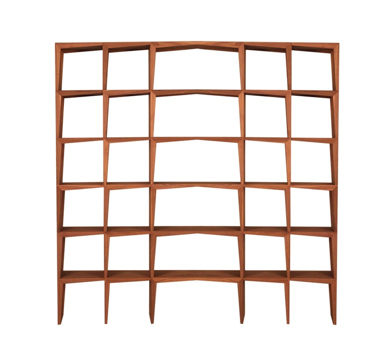 Ash Kant, Contemporary Freestanding Bookcase Made of Walnut Canaletto Wood For Sale