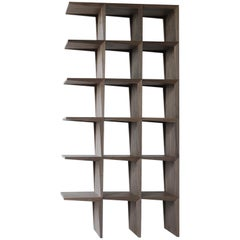 Kant, Contemporary Freestanding Bookcase Made of Walnut Canaletto Wood