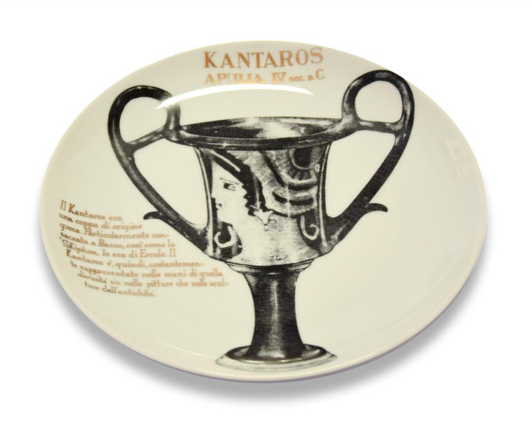 Italian Kantaros Plate for Martini & Rossi, by P. Fornasetti, 1960s For Sale