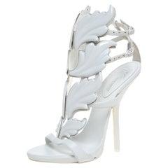 Kanye West x Giuseppe Zanotti White Leather Cruel Summer Sandals Size 35
