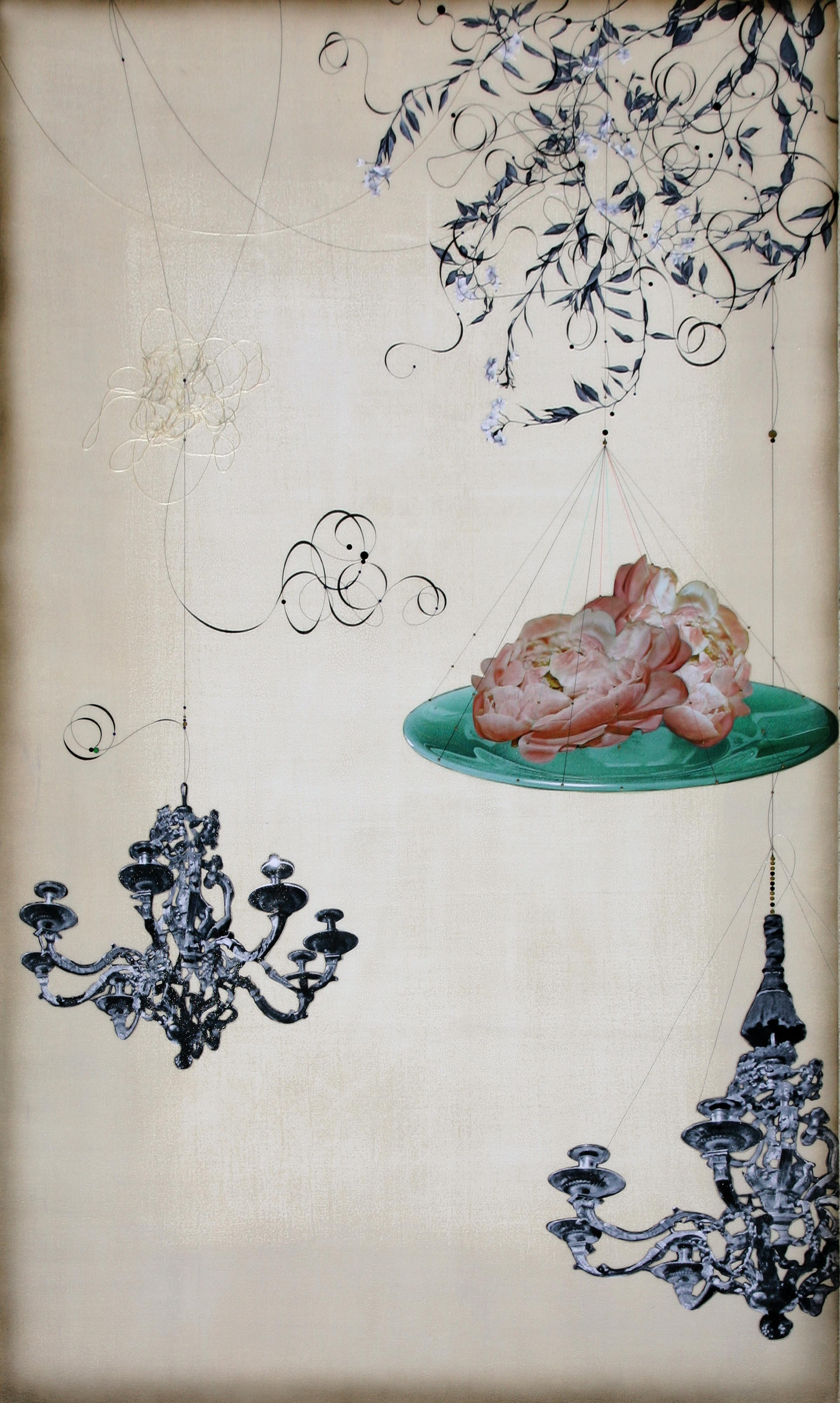 Chandelier and Peony