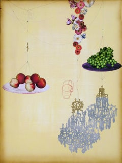 Peach, Grape and Chandelier