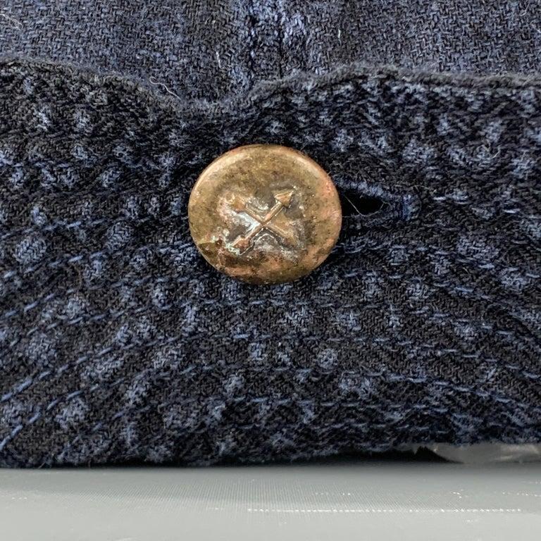 KAPITAL Patchwork Indigo Blue Patchwork Linen Hat For Sale 3