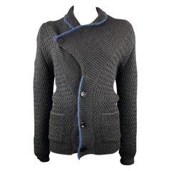 KAPITAL Size M Black Knitted Wool Shawl Collar Cardigan