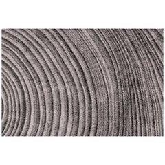 Kara Hand-Tufted Tencel Rug in Gray and Black