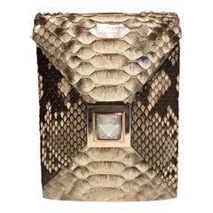 Kara Ross Python Snakeskin Clutch / Crossbody Bag