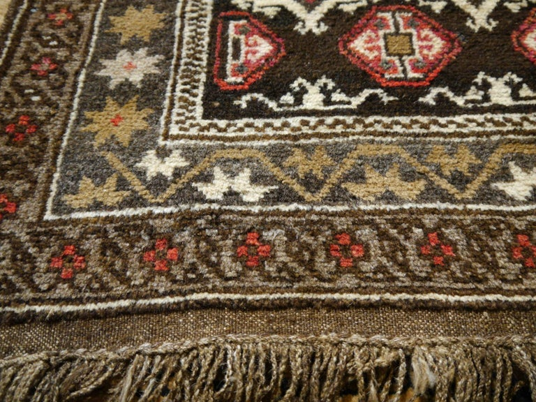 Karabagh Rug Hand Knotted in Azerbeijan, Midcentury For Sale 5