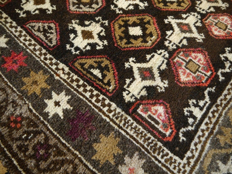 Karabagh Rug Hand Knotted in Azerbeijan, Midcentury For Sale 8