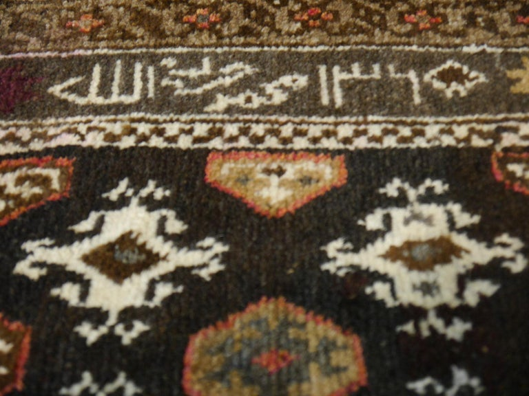 Karabagh Rug Hand Knotted in Azerbeijan, Midcentury For Sale 10