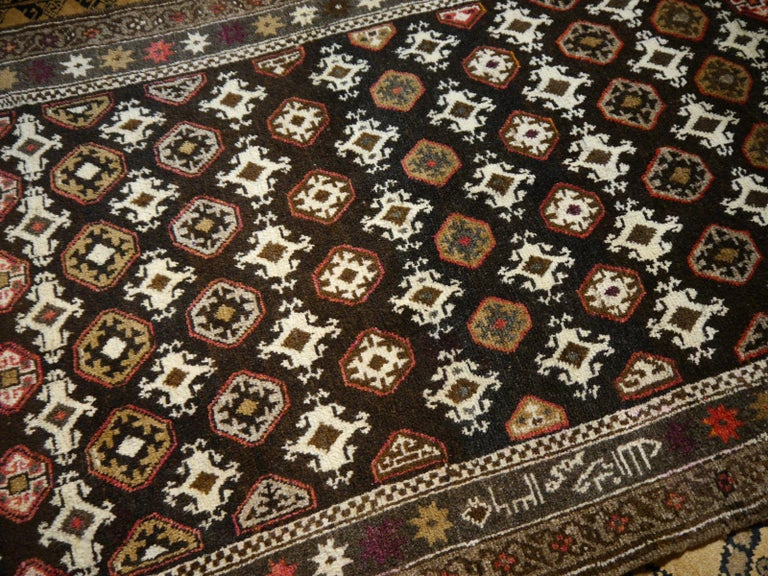 20th Century Karabagh Rug Hand Knotted in Azerbeijan, Midcentury For Sale
