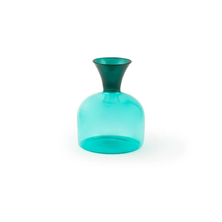 Italian Karaffa Blown Glass Carafe by Aldo Cibic For Sale