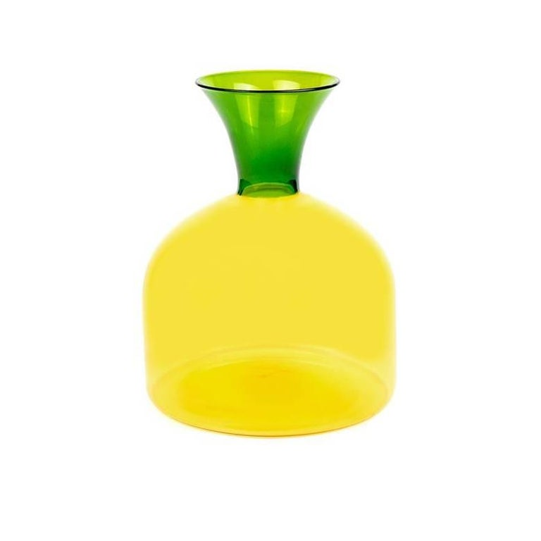 Karaffa Blown Glass Carafe by Aldo Cibic For Sale