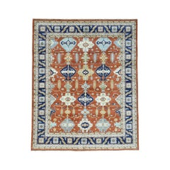 Karajeh Design Pure Wool Hand Knotted Oriental Rug