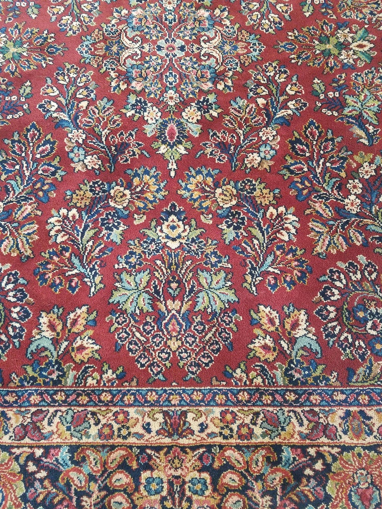 Karastan Red Sarouk 700/785 Antique, 100% Wool Rug at 1stdibs