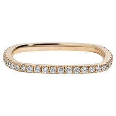 Kare Ring, Square Diamond Eternity Band in Yellow Gold
