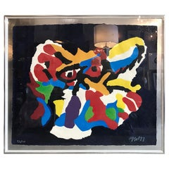 Karel Appel Abstract Embossed Lithograph
