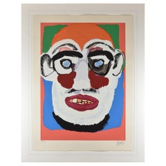"Karel Appel ""Face"" 1979 98/130 Signed Lithograph"