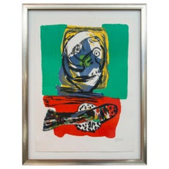 Karel Appel, Fish Dinner, Lithograph, 1966