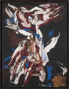 Personnage dans la Tempête by KAREL APPEL - Oil, Cobra, Abstract, 20th Century