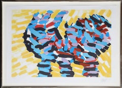 Cat, Framed Lithograph by Karel Appel