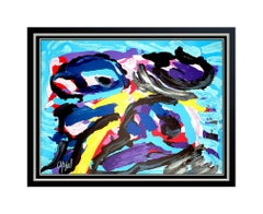 Karel Appel Color Lithograph Authentic Large Hand Signed Avant Garde Abstract